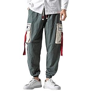 serliy😛Herren Bequeme Short-Legged Hosen für Freizeit Overalls Fashion Retro Hosen Laufhose Geeignet für Indoor- und Outdoor-Aktivitäten