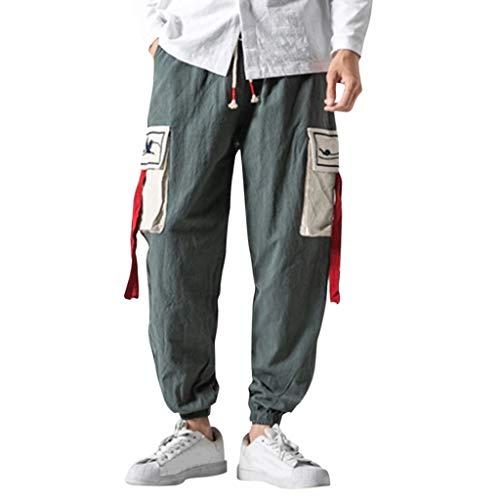 Setsail Herren Bequeme Short-Legged Hosen für Freizeit Overalls Fashion Retro Hosen Laufhose Geeignet für Indoor- und Outdoor-Aktivitäten -