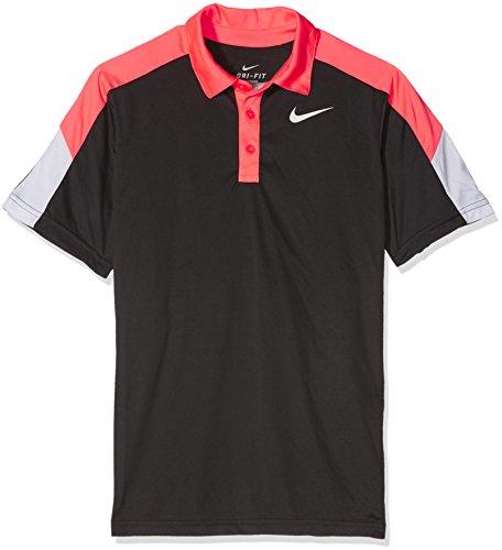 Nike Herren Team Court Polo Boys Oberbekleidung, Schwarz, L