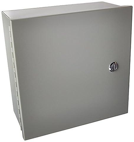 Wiegmann N1C121206 N1C-Series NEMA 1 Small Hinged Cover Wallmount Cabinet,