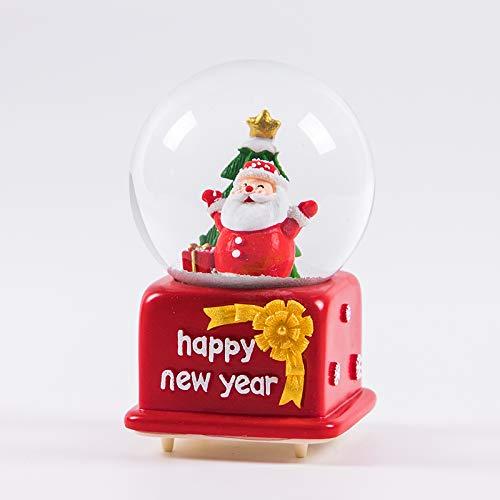 (hokkk Leuchtende Kristallkugel Spieluhr Kreatives Neues Jahr Geburtstagsgeschenk Anhänger Zu Senden Männliche Und Weibliche Freunde Kinder Hohe 13 cm Durchmesser 8 cm C)