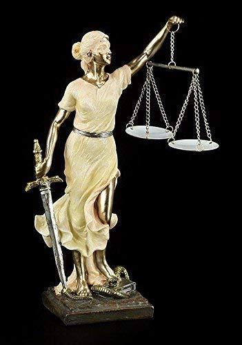 Justitia Figura Dos Colores Romano Griega Diosa Escultura Derecho Justicia