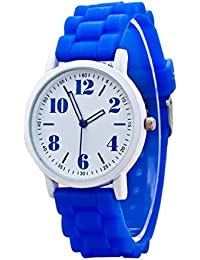 Sannysis® Mujeres silicona Movimiento de cuarzo reloj de pulsera Azul