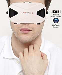 Jkobi Blue Polarised Lenses Latest Version VR Headset Virtual Reality 3D Glasses Compatible For Sony Xperia C4 E5303 -White