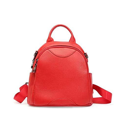 Yyqtbb Mode wasserdichte Frauen Rucksack Wilde Kleine Runde Tasche Mode, Rucksack für Mädchen Schultasche Casual Daypack Schule Rucksäcke Tasche Satchel (Color : Pink) -