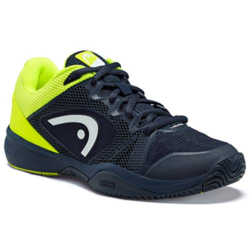 Head Revolt Pro 2.5 Junior Scarpe da Tennis Unisex - Bambini, Blu (Dark Blue/Neon Yellow Dbny), 36 EU (3.5 UK)