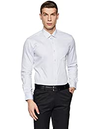 Arrow Men's Plain Slim Fit Cotton Formal Shirt