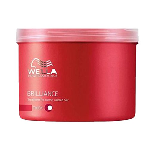 Wella Professionals Brilliance unisex, Mask für kräftiges, coloriertes Haar, 500 ml, 1er Pack, (1x 1 Stück) (Haar Polnisch)