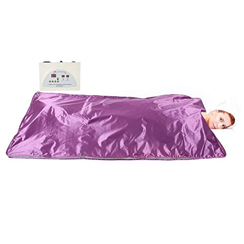 Sauna Heizdecke, Zuhause Dampfsauna, Far Infrared Detox Sauna Körper Abnehmen Fitness Anti-Aging-Maschine Dampf Decke Lila(EU)