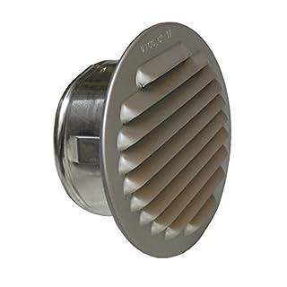 Trobak Lüftungsgitter Aluminium eloxiert mit Stutzen, DN 95-100 mm