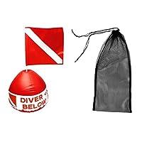Sharplace Sac Pour Équipement De Plongée En Apnée + Marqueur Drapeau De Sécurité Plongeur Avec Bouée Gonflable
