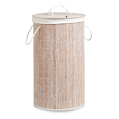 zeller-present-panier-a-linge-en-bois-de-bambou-zeller-h-60-cm