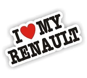 Vue sur la mer sticker Stickers I Love My Renault Car Van