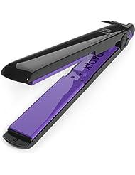 xtava Goddess Lisseur Cheveux (Aurora) avec plaques Céramique et Tourmaline, Écran LCD, Chauffage ultra-rapide pour des mèches magnifiques et soyeuses en un temps record, Violet