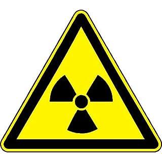NetSpares 119777956 1 x Aufkleber Achtung. Nuclear Atom Gefahr Sticker Shocker Warnschild Tuning Fun