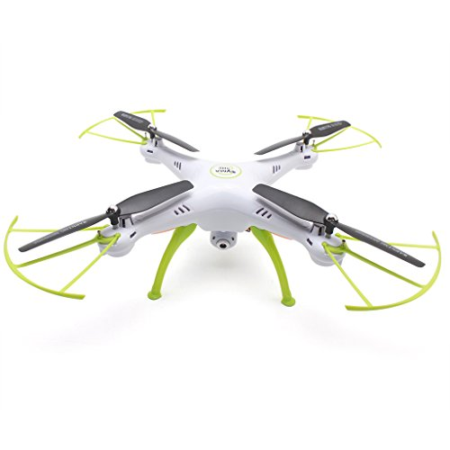 Preisvergleich Produktbild Syma X5HC 2.4G 4CH RC Quadrocopter Drohne (2.0MP HD Kamera, 3D 360°Flips, High-Hold, Headless-Modus, Built-in 6-Achsen Gyro, LED Licht) Weiß