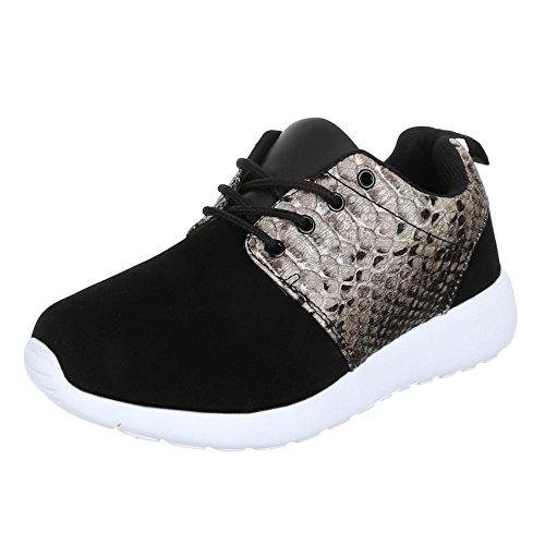 Ital-Design, Sneaker donna Nero (Nero/Grigio)