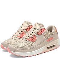 Mujeres Entrenadores Zapatos de Malla Transpirable Zapatos Casuales de la Plataforma señora Zapatos de Deporte al