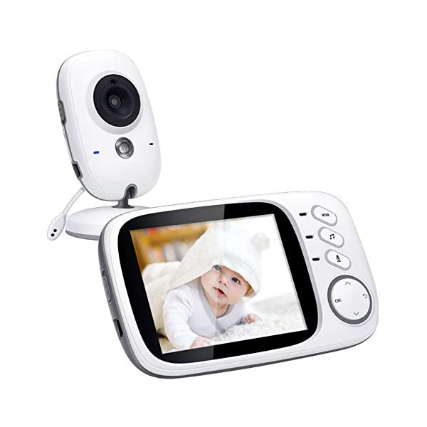 Wireless Video Baby Monitor W// Night Vision Two-Way Audio Temperature Monitoring