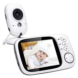 Govee Baby Monitor 3,2 Zoll Kamera Babyphone 2,4 GHz Wireless weit reichend mit Infrarot Nachtsicht,dual Audio Funktion, Schlaflieder,VOX Funktion und Temperatursensor