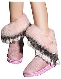 XMDNYE Botas para La Nieve para El Aire Libre De Winter Warm Girls Botas para La Nieve Antideslizantes para El Tobillo, 36