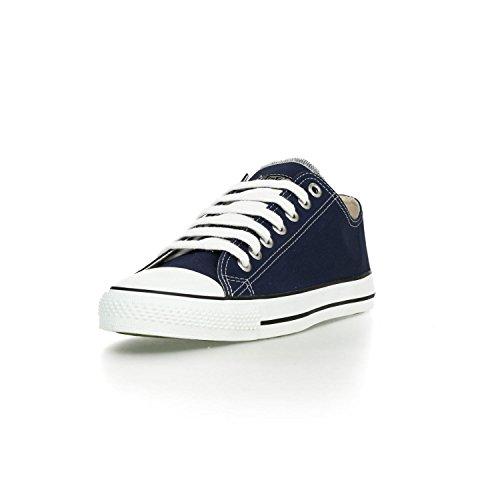 Ethletic Sneaker LoCut aus Bio-Baumwolle – ocean blue / white – fair trade & vegan - 2