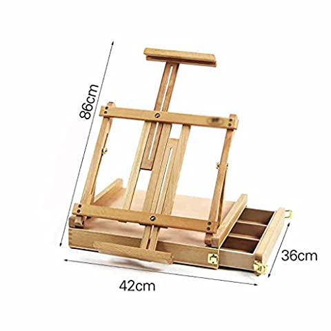 Chevalets Tiroir tiroir tiroir chariot portefeuille en faïence bureautique châssis en plastique télescopique boîte à outils en bois chevalet peinture