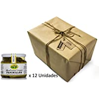 Pack 12 unidades Pepinillos Medianos 120/160 Sabor Anchoa - Envase PET 550 g Peso neto unidad