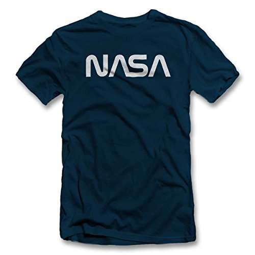shirtground NASA T-Shirt Dunkelblau-Navy S