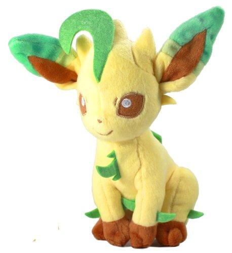 Pokemon: Best Wishes! (Schwarz + Weiß) Kuscheltier / Stofftier / Plüsch Figur: Folipurba / Leafeon / Leafia (T.T.) 20 cm