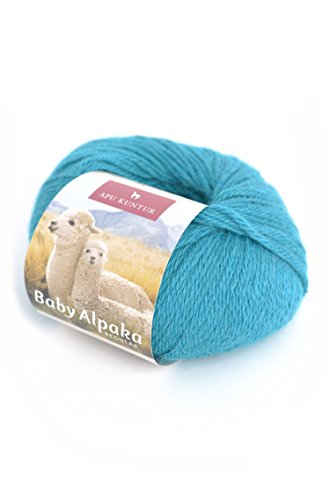 Alpaka-Wolle 5er-Pack AKTIONSPREIS Baby-Alpaka Wolle REGULAR 5x50g tuerkis