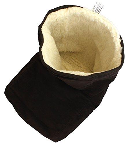Preisvergleich Produktbild Sonia Originelli Fußwärmer Fußsack Fuss Wolle kuschelig Made in Germany Schurwolle Foot 69011 (Braun)