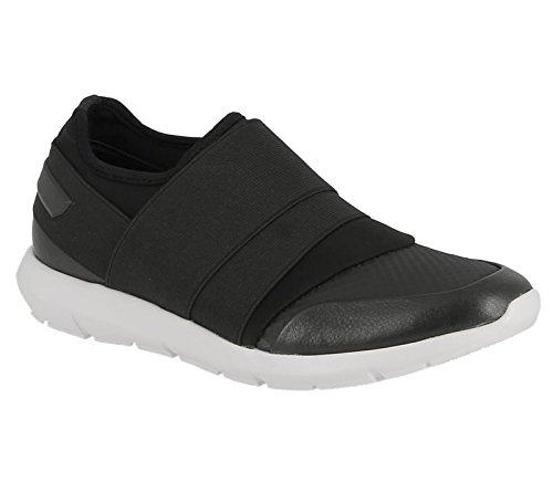 Calvin Klein Senior Lt Tumbled Metallic Lea, Sneakers Basses Homme Noir