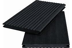Muster Handmuster WPC Terrassendiele Massivdiele WoodoKosXXL 20 x 200 mm anthrazit geriffelt/glatt, beidseitig begehbar 8,95 €/lfm