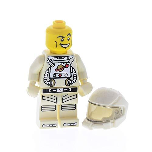 Bausteine gebraucht 1 x Lego System Sammel Figur Minifiguren Serie 1 Astronaut Torso Weiss Bedruckt Helm mit Visier ohne Zubehör 87781 973pb0669c01 col01 col013 -