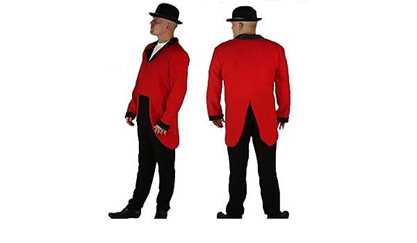 400cb09f331 Red Fox Hunting Hunters Huntsman Fancy Dress Tails Jacket   Bowler Hat S-M  Full Set   Amazon.co.uk  Clothing