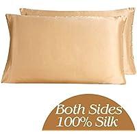 YANIBEST naturale 100% pura seta di gelso federa & Facial bellezza per capelli, federe per cuscini con zip nascosta