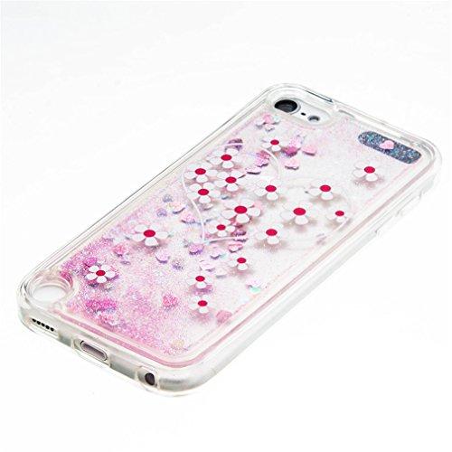 A9H iPhone SE 5 5s Hülle Schutzhülle iPhone SE 5 5s Hülle Transparent Hardcase Kreative Liquid Bling Hülle Case Für iPhone SE 5 5s Dynamisch Treibsand Flüssige Fließend Wasser Glitter Glitzer Glanz Sp 10HUA