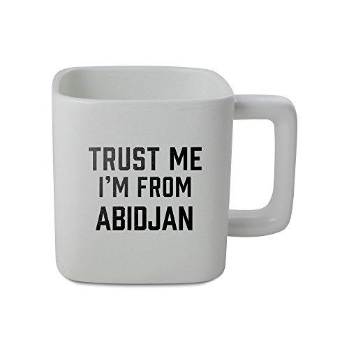 11oz square shaped mug with Trust me I am from Abidjan