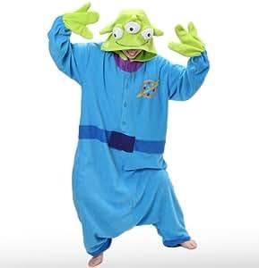 Japan Official Sazac Toy Story Little Green Men Onesie Kigurumi Pajamas Little Green Men Costume Cosplay