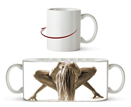 Elegante Pose Effekt: Sepia als Motivetasse 300ml, aus Keramik weiß, wunderbar als Geschenkidee...