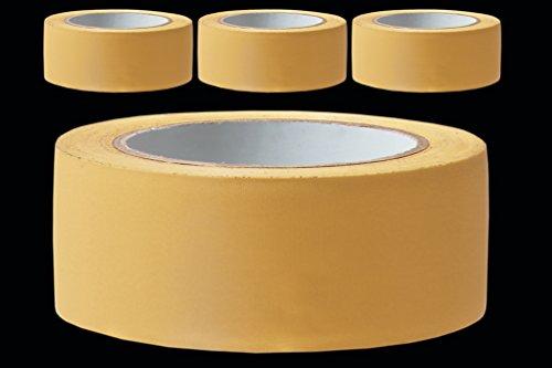 3 Rollen PROFI Putzerband 50 mm gelb gerillt 33 m PVC Schutzband Putzband Bautenschutz Klebeband Putz Abdeckband