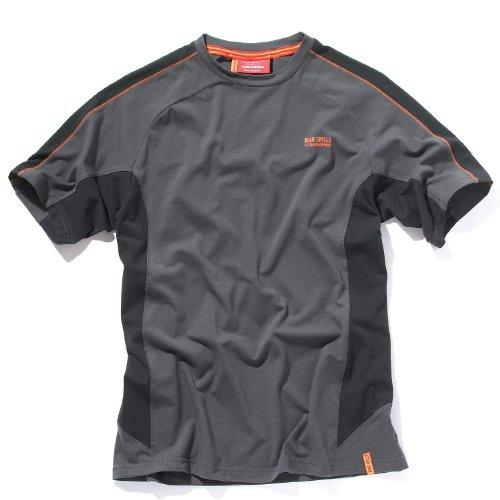 Bear Grylls Herren Short Sleeved Technische T-Shirt von Craghoppers Schwarz - Black Pepper / Schwarz
