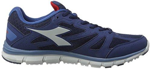 Diadora Unisex-Erwachsene Hawk 4 Gymnastikschuhe, Grau Blau - Bleu Classico/Jaune