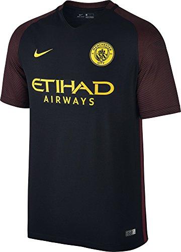 Nike Manchester City M SS AW Stadium JSY Camiseta de Manga Corta, Hombre, Negro (Black/Team Red/OPTI Yellow), M