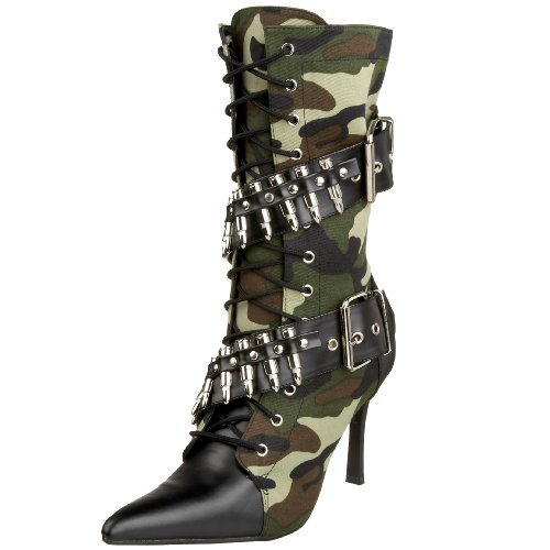Adult Army Girl Boots Large (US Size 9) Fancy Dress