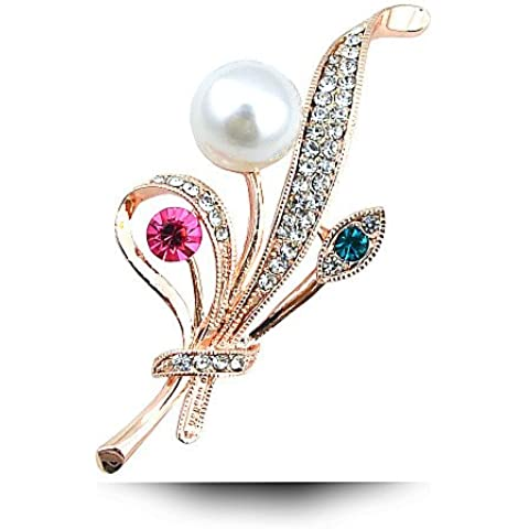 un bouquet di acqua dolce spilla di perle