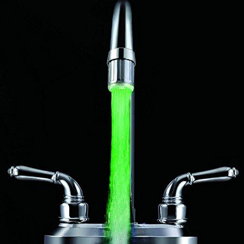 MONOCHROME: Wasser Wasserhahn Tippen Köpfe LED Licht Temperatur Sensor 3Farben glow LED 7Farbe RGB Automatische Farbwechsel Dusche Stream Badezimmer -