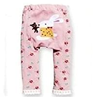 Busha Baby Toddler Unisex Leggings with Adorable Animal Design Bunny with Teddy Size M 12-24 Months