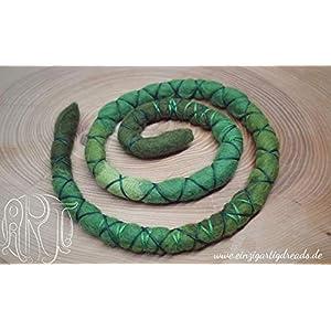 Dreadspirale Haarspirale Dreadschmuck aus Wolle 50 cm